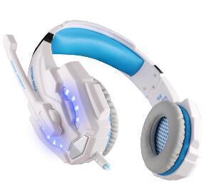 2019 PS4 Dizüstü Tablet Cep Telefonları için Oyun Kulaklık KOTION HER G9000 3.5mm Oyun Kulaklık Mikrofon ile Kulaklık Bandı LED Işık