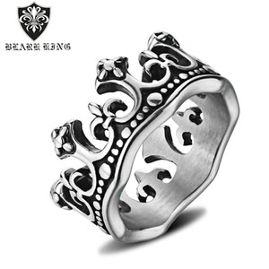 2020 New Style Crown Ring European and American Crown Jewelry King Stainless Titanium Steel Accessories Hand Jewelry a Generation of US Size