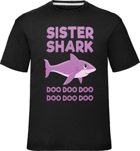 Enfants Sœur Shark Famille T-shirt Garçons Filles Nouveauté Tee Top Sis Frère Cartoon T Shirt Hommes Unisexe Nouveau Mode T-shirt