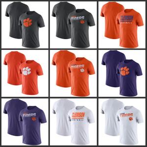 Clemson Tigers Sideline Legend Performance-T-Shirts gedruckt kurze Hülse O-Ansatz T-Fußball College Team Sports-T-Shirts