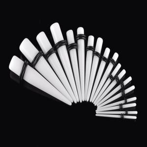 MOSRSA 18pcs / set Acrylique Taper Ear Jauge 1.6-10mm Bouchons D'oreille et Tunnels Étirer Kits Chair Expansion Corps Piercing Bijoux