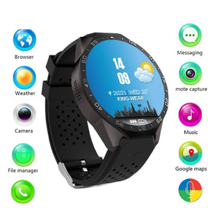 KW88 3G WIFI GPS Bluetooth Smart Watch Android 5.1 MTK6580 1.39 pouces 2.0MP caméra Smartwatch pour Iphone Huawei téléphone