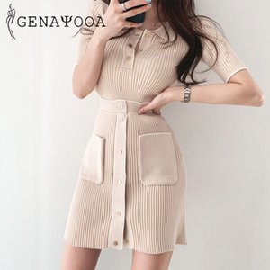 Genayooa Büro-Dame-Rock-Satz Frauen-Sommer-T-Shirt Minirock Zweiteiler Stretch 2 Stück Frauen zwei Outfits