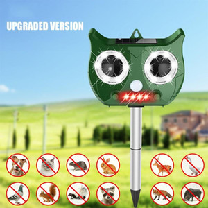 Solar Ultrasonic animal Repeller Incluir Waterproof Pest Repeller Contra Serpente Cat Bird Dog Rat dissipador bateria incluída