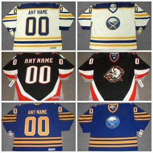 Buffalo Sabres 1980 Vintage Hockey Jersey 1990 personnalisé Pas de préférence Nombre Tout Nom Hommes Femmes Enfants Tous Stiched