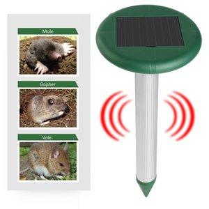 2PCS Hot Sale Garden Solar Powered Ultras Outdoor Animals Repeller Motion Sensor Flash Light Dogs Cat Raccoon Rabbit Animal Dispeller