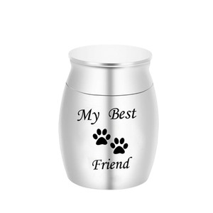 Cremation Urn for Ashes Urn Jewelry, Pets Paw Carved Locket Ash Keepsake Waterproof Memorial Urns - My Best Friend 30 x 40mm
