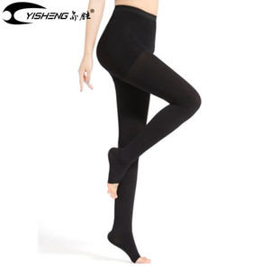 Kadınlar için Yisheng Sıkıştırma çorap Varis Külotlu çorap Açık Burun Sıkıştırma Pantolon Brace