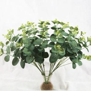 Wholesale 16 Heads Artificial Eucalyptus Leave bouquet 50cm height Artificial Flowers bouquet plastic Leaves Lysimachia leaf