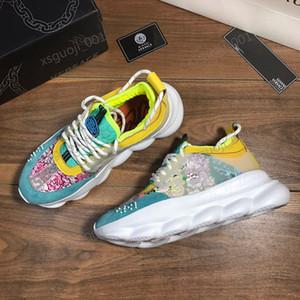 Versace shoes eğitmenler en kaliteli boyutu 36-45 açık Xshfbcl Yeni kadın erkek iskarpin gündelik ayakkabı tasarımcısı moda spor ayakkabısı