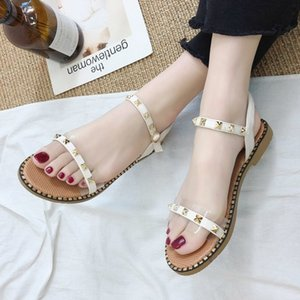 Fairy2019 Sandali Donna Trasparente Fairy Wind Flat Late Night Shoe Exceed Fire Tender Rome Shoes