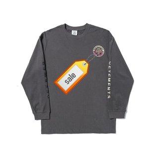 Hot Brand VETEMENTS LOGO 19FW Letter Printied Sweatshirt Men Women Fashion Casual Pullover Couple Street Skateboard Long Sleeve HFHLWY063