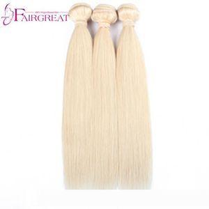 pelucas 613 Blonde Straight Human Hair 3Pcs Lot Brazilian Blonde Straight Human Hair Weave Unprocessed Top Quality 613 Color Brazil