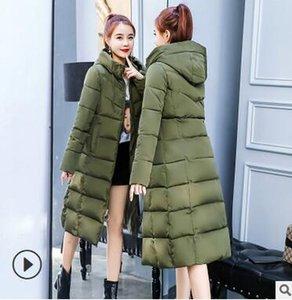 Der Winter der Großhandelsart- und weisefrauen beschichten unten starke lange Baumwollparka-mit Kapuze warme Jacke Größe XS-4XL