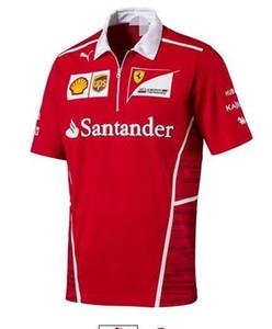 F1 Ferrari team Fan clothes Ferrari Kimi Raikkonen camisa de Manga Curta Camisa de corrida fato de polyester camisa de secagem rápida