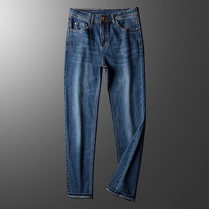 Mens Jeans Classic Straight Male Blue Jeans 2020 New Spring Summer Autumn Smart Casual Slim Fit Denim Pants Size 28-40 Trousers