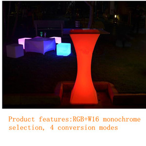 High quality Rechargeable LED cocktail table plastic bar coffee table L45*W45*H110cm with remote control