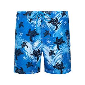 Neue Bademode Board Shorts Mens Quick Dry Pants Man 3D Digital Schildkröte Druck beiläufige Urlaub Sommer Male Shorts EURO Größe Kühle
