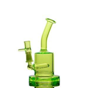 Petit Bong Downstem Perc fumeurs verre d'eau Pipes Mini Dab Rigs Heady verre d'eau avec 10 mm Bangs huile Bong 5.9 Maxi