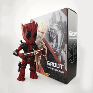26cm Guardians Of The Galaxy Marvel Tree Man Groot Cosplay Deadpool Action Figure Joints Movable Model Kids Toys