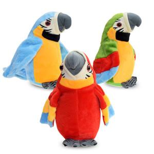 Électrique Parler Parrot Jouets en peluche parlant mignon Enregistrez Répète Ondulation Ailes d'oiseau électronique peluche peluche enfants cadeau