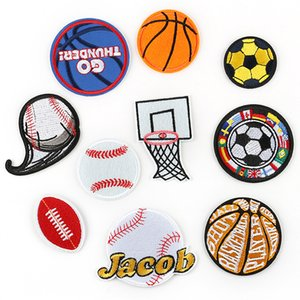 Sport Football Basketball Rugby Embroidery Patches Sew Iron On Applique Repair Badge Clothes Patch For Jackets Jeans Garment Bag