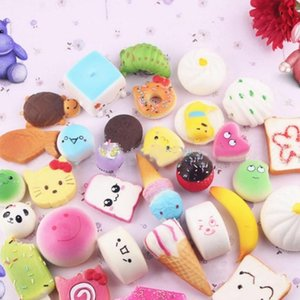 Random Mix PU Cute Lovely Cartoon Pendant Kawaii Squishy Simulation Bread Food Squishy Super Toy Decompression Toys Portable free ship