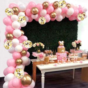 115PCS New Moda Multicolor Latex Cheio Birthday Party Brinquedos Crianças Limpar Balões novidade casamento Decorações do balão guirlanda arco suíte