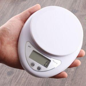 Taşınabilir 5 kg 5000g / 1g Dijital Ölçekli LED Elektronik Terazi Gıda Dengesi Ölçüm Ağırlık Mutfak LED Elektronik Teraziler