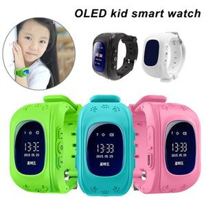 Anti Lost Q50 OLED Child GPS Tracker SOS Smartwatch LBS Location Safe Monitoring Positioning Phone Kids Watch Compatible IOS & Android