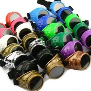 Steampunk من حملق اللون كثير فكرة الإبداعية الحديثة ركوب مصدات الرياح الغبار نظارات العين لحام مرآة المصنع مباشرة بيع 11wg p1
