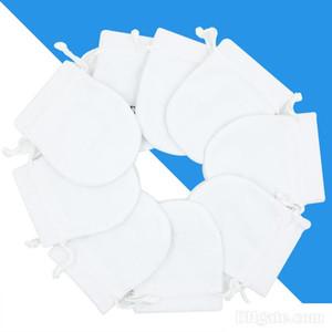 De joyería blanco bolsa de terciopelo joyas bolsas para Pandora granos de los encantos colgante de collar pulsera de las mujeres de plata bolsas de embalaje de regalo