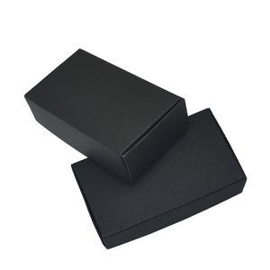 11.8x6.7x3cm 결혼식 선물 상자 훈장 까만 기술 Kraft 서류상 포장 상자 Handmade Candy Soap Paperboard 작은 판지 50pcs / lot