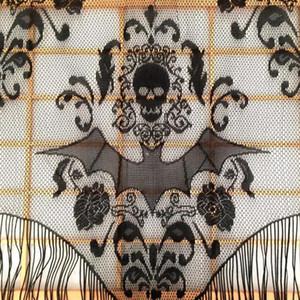 Kafatası Yarasa Web Perde Topper Şal Cadılar Bayramı Perili Ev Ev Püskül Parti Malzemeleri Damla nakliye ev dekor