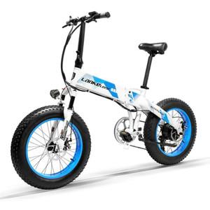 LANKELEISI The best quality X2000Plus Fat Tire Folding E-bike 20 inch 400W Motor 13AH L G L