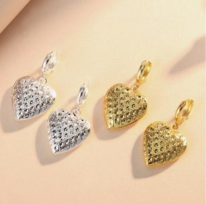 2018 Hot sales love heart Phase box Earrings open Can put photo Earrings Golden silvery woman Madam Fashion accessories