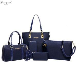 6Pcs Набор женщины сумка мода Plain Шесть Piece Set плечо Crossbody сумка конструктора сумка Сумка Женщина сцепление Mochila G10