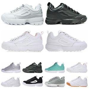 Fila disruptor 2 II luxe triple noir blanc rose gris or Disruptors II 2 S femmes hommes chaussures de marque section section Randonnée Jogging baskets de sport