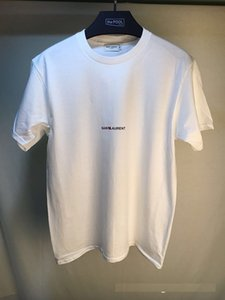 Primera marca para hombre de la camiseta de la letra sencilla camisa camiseta para hombre de manga corta impresa etiquetas Streetwear SLP Tops Camiseta Homme