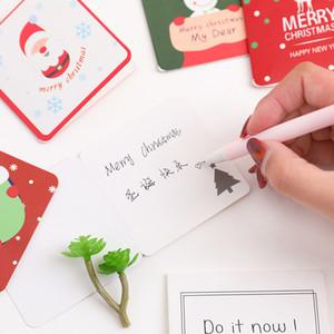 Zarf Sevimli Noel Baba Geyik Elk Merry Christmas Kartpostal Yılbaşı Hediyeleri Card ile 6Pcs / set Karikatür Noel Tebrik Kartı