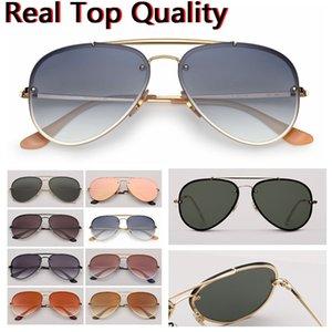 Tasarımcı güneş gözlüğü havacılığın güneş gözlüğü moda marka güneş gözlükleri koruma lensler ve ücretsiz deri çanta, perakende kutusu tüm aksesuarları UV yangını!