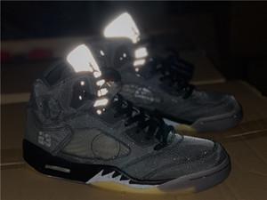 I nuovi uomini 5S pallacanestro scarpe 5 sportiva bianca di alta qualità scarpe da ginnastica formatori di design con box