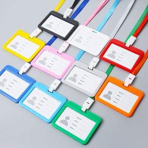 Accessoires Double Sided mignon carte d'identité transparente Nom étanche Badge Holder Porte horizontal badge d'identification
