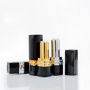 diy lipstick tube high-grade square lipstick empty tube glyph gold and silver lipstick shell
