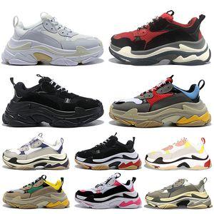 balenciaga triple s Triple S Pares 17FW Mujeres Hombres Diseñador Zapatos casuales Moda Lujo Release Track 3.0 Zapatos de cuero tripler Platform triple s sneakers