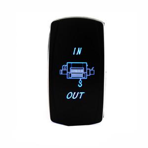 Водонепроницаемый синий светодиод Лебедка IN / OUT Rocker Switch для Polaris RZR 4 900 1000 XP4