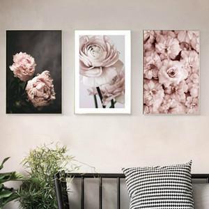 Romantik Modern Pembe Gül Çiçekler Tuval Resimleri Posterler Baskılar sevgililer Hediye Wall Art Resim Yatak Odası Ev Dekor