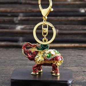 Elephant strass Keychain mode Creative ELEPHANT voiture Porte-clés Porte-clés en métal Personnaliser Elephant Pendentif Petit cadeau VT0830