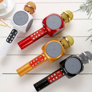 Sihirli WS1816 Kablosuz Bluetooth Karaoke Mikrofon Hoparlör Taşınabilir El KTV Mic Müzik Hoparlör Makinesi Singing Hosting KTV Üc ...