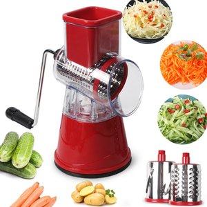 Manual Cortador de verduras Slicer Accesorios de cocina Multifuncional Mandolina Slicer Ronda Queso Patata Utensilios de cocina Vegetales Herramientas